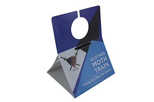 Clothes Moth Traps for Closet Clothing - Moths Protection with Unique Hanging Design, Protect with Non Toxic Formula That is Safe for Your Family and Long Lasting, Protect and Defend. (6 Pack)