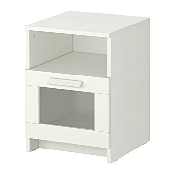 Ikea Brimnes Table De Chevet Blanc 39x41 Cm Amazonfr