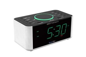 Emerson-Alarm-Clock-Radio-and-QI-Wireless-Phone-Charger-with-Bluetooth-Compatible-with-iPhone-Xs-MaxXRXSX8Plus-10W-Galaxy-S10PlusS10ES9-All-Qi-Compatible-Phones-ER100202