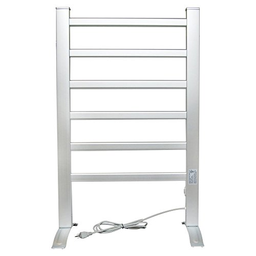 LCM Home Fashion 6-Bar Freestanding Towel Warmer, Drying Rack