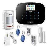 KERUI Wireless Home/House Business Security Alarm System,3G WiFi PSTN Auto Dial APP Remote Control Smart Burglar Alert DIY Kit,W193 Come with Door Contact Sensor and PIR Motion Sensor