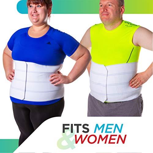 BraceAbility 4XL Plus Size Bariatric Abdominal Stomach Binder | Obesity Girdle Belt for Big Men & Women with a Large Belly, Post Surgery Tummy & Waist Compression Wrap 8