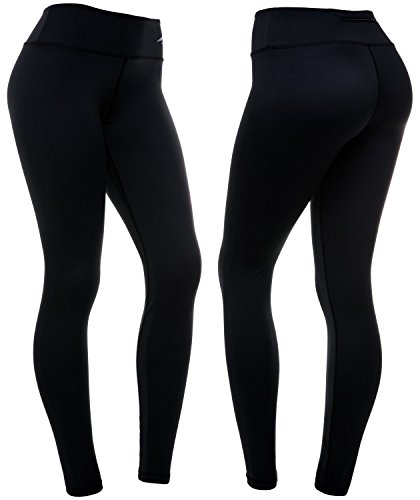 CompressionZ Women's Compression Pants (Black - L) Best Full Leggings Tights for Running, Yoga, Gym