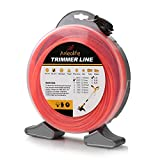 Anleolife 1-Pound Commercial Square .080-Inch-by-960-ft String Trimmer Line Donut,with Bonus Line Cutter, Orange