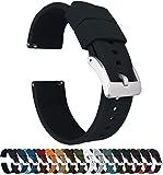 Barton Elite Silicone Watch Bands - Quick Release - Choose Strap Color & Width - Black 20mm