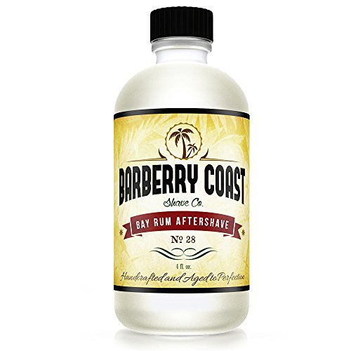 Sale - Bay Rum Aftershave Splash for Men - Crafted with Authentic Bay Oils from Dominica Republic in The Virgin Islands - Natural and Pure Ingredients - 4oz. - from Barberry Coast Shave Co.
