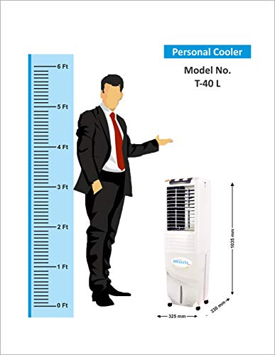 41%2BNDNN9IhL - Himalaya Coolers Personal Room Air Cooler with Silent Fan and Honeycomb Pads (40 L Capacity, White)