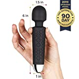 Micro Wand Massager by Yarosi - The Smallest & Strongest Cordless Handheld Massage - Powerful Vibrating Power - Best for Travel - Magic Stress Away - Perfect on Back, Legs Hand Pains & Sports Recovery