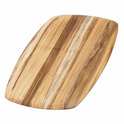 Teakhaus Wood Cutting Board - Teak Serving Platter With Rounded Edges (16 x 11 x .55 in.) - By