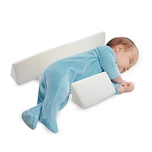 Newborn Baby Side Positioning Sleep Wedge Pillow for Boys and Girls May Prevent Flat Head and Acid Reflux