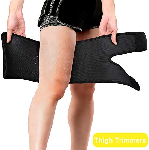FEOAMO 4 Pack Arm and Thigh Trimmers Sauna Sweat Bands Wraps Arm Trimmers Sleeves Leg for Women Weight Loss, Improve Sweating & Circulation 4