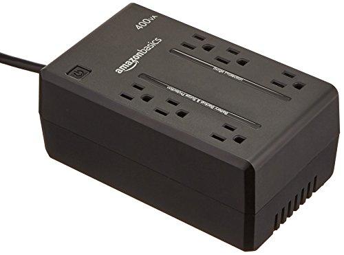 AmazonBasics Standby UPS 400VA 255W, 6 Outlets