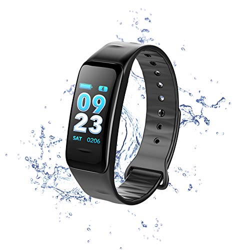 LuYi-Ww Activity Tracker Smart Fitness Wristband | GPS | Multi-Sport Mode| Heart Rate | Sleep Monitor | IP67 Waterproof, Black