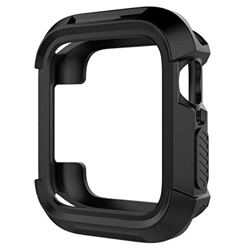 Compatible Apple Watch Case 42mm Shock-Proof and Shatter-Resistant Protector Bumper iwatch Case for Series 1 2 3 Black (No Screen Cover)