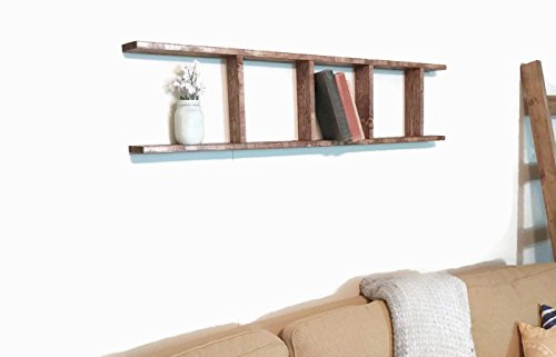 Decorative Ladder - Wooden Blanket Ladder 4 Foot Rustic Farmhouse