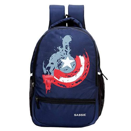 Navy Blue School Bag with Laptop Compartment