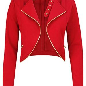 Michel Womens Fleece Jacket Classic Crop Rider Zip UP Jacket 15 Fashion Online Shop gifts for her gifts for him womens full figure