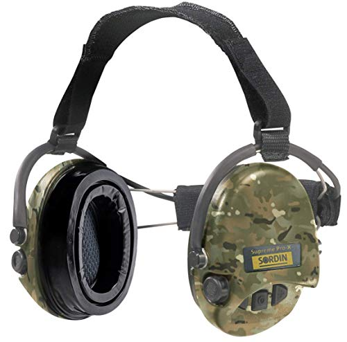 Sordin-Supreme-PRO-X-Electronic-Safety-Earmuff-for-Shooting-with-Neckband-and-Gel-Seals-Hearing-Protection-with-Camo-Cups-SNR-25db