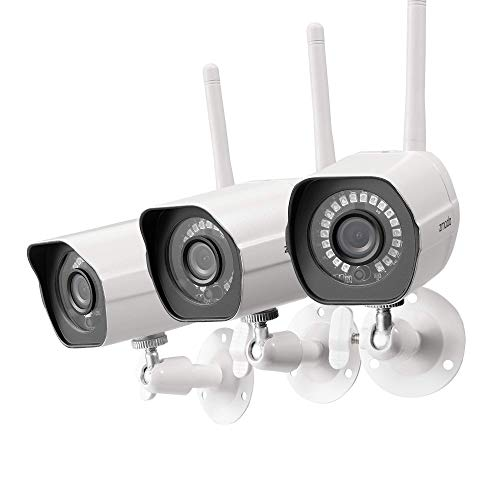 Zmodo-Outdoor-Camera-Wireless-1080p-Security-Camera-Wireless-3-Pack-Indoor-Outside-WiFi-Cameras-Wireless-IR-Night-Vision-Motion-Detection-Remote-View-Easy-Setup-White-Compatible-with-Alexa