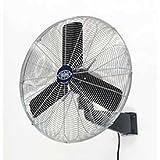 Oscillating Wall Mount Fan, 24' Diameter, 1/4hp, 7525cfm