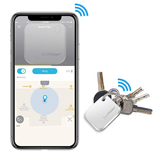 Key Finder, Key Locator Bluetooth -Tracker Device with App Control for iPhone, Slim Wallet Bag Luggage Tracker, Compatible with iOS Android,Replaceable Battery