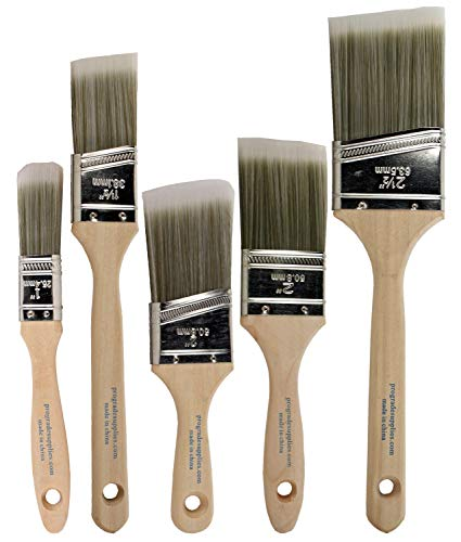 Pro-Grade Home Wall/Trim House Paint Brush Set Great for Professional Painter and Home Owners Painting Brushes for Cabinet Decks Fences Interior Exterior & Commercial Paintbrush