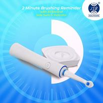 JSB-HF127-Electric-Power-Toothbrush-Rechargeable-Waterproof-with-2-Brush-Heads-White-Blue