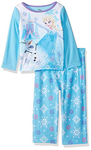 Disney Girls' Toddler Frozen Elsa 2-Piece Fleece Pajama Set, ICY Olaf, 4T