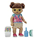 Baby Alive Step 'N Giggle Baby Brown Hair Doll with Light-Up Shoes, Responds with 25+ Sounds & Phrases, Drinks & Wets, Toy for Kids Ages 3 Years Old & Up