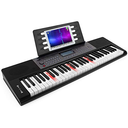 Piano-Keyboard-61-Key-AKLOT-Portable-Full-Size-Piano-Keys-Infinite-Volume-61-Keys-Electronic-Keyboard-Built-in-Speakers-Headphones-Microphone-with-Music-Stand-for-Adults-Kids-Beginners-Professionals