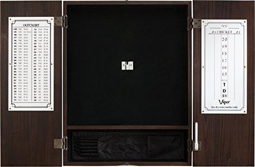 Viper by GLD Products Viper Metropolitan Sisal/Bristle Steel Tip Dartboard Cabinet: Cabinet Only (No Dartboard), Espresso Finish