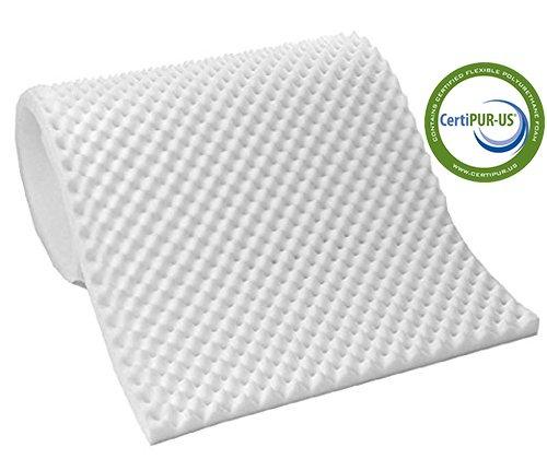 Vaunn Medical Egg Crate Convoluted Foam Mattress Pad - 3' Thick EggCrate Mattress Topper (Hospital Bed Twin Size)