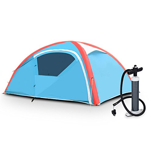 Tangkula-Inflatable-Tent-Camping-Tent-for-Family-Instant-Set-Up-in-Minutes-Windproof-and-All-Weather-Resistant-Lightweight-Outdoor-Tent-with-Hand-Pump-Air-Tent-2-3-Person