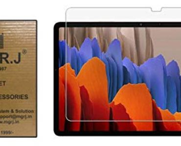 M.G.R.J® Tempered Glass Screen Protector Compatible for Samsung Galaxy Tab S7 Plus (12.4″ inch) (SM-T970 / SM-T975 / SM-T976)