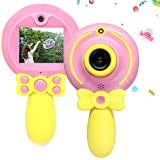 denicer Children's Magic Wand Creative Camera with 720P Resolution Front and Rear Camera Video Camcorder HD 2-inch Screen, Cute Kids Selfie Camera for 3-9 Girls with Fun Frame -PY