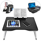 Cooper Table Mate [Folding Laptop Desk for Bed & Sofa] Couch Table, Bed Desk for Laptop, Writing, Study, Eating | Storage, Reading Stand (Black Onyx)