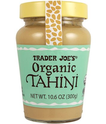 Trader Joe's Organic Tahini Nut Butter, 10.6 oz / 300 g Jar