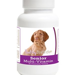 Healthy Breeds Senior Multi-Vitamin for Wirehaired Vizsla - OVER 200 BREEDS - Veterinarian Formulated Daily Dietary Chewable Tablet - 60 Chews 13