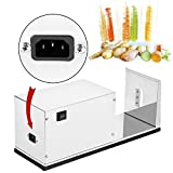 VEVOR Commercial 1/8' Thick Electric Slicer Stainless Steel for Making Twisted Chips Tornado Potatoes Veggie Snacks