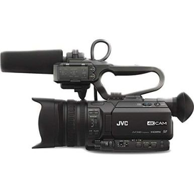 JVC-GY-HM180-Ultra-HD-4K-Camcorder-with-HD-SDI-GY-HM180U-with-Padded-Case-LED-Light-64GB-Memory-Card-and-More-Base-Bundle