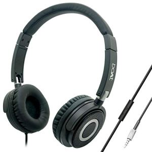 boAt BassHeads 900 On-Ear Wired Headphone with Super Extra Bass, in-line Mic, Snug Fit and Lightweight Foldable Design (Black)