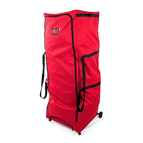 Santa's Bags Upright 9 ft Tree Storage Duffel Bag with front Handle Bar and Rear Metal Handle