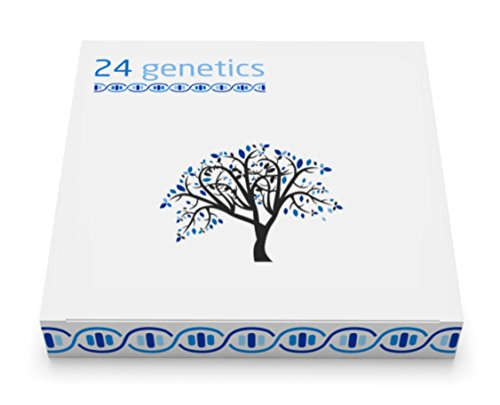 24Genetics 6-in-1 DNA Test for Ancestry (Regional), Health, Nutrigenetics, Pharmacogenomics, Skin Care and Sports. Includes at-Home Swab Collection kit