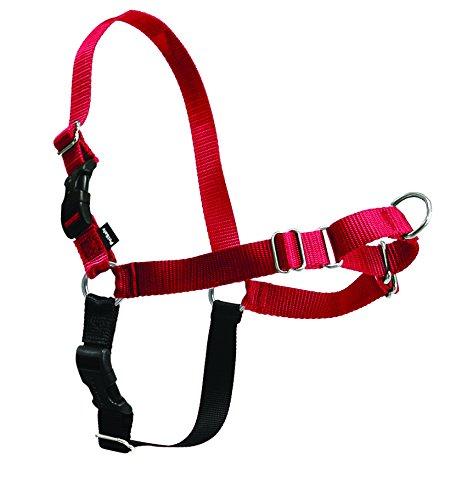 PetSafe Easy Walk Dog Harness, No Pull Dog Harness, Black/Silver, Medium/Large