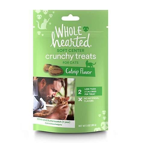 WholeHearted Soft Center Crunchy Catnip Flavor Cat Treats 1