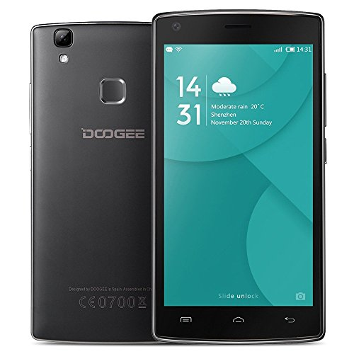 "DOOGEE X5 MAX Smartphone 3G WCDMA MTK6580 5.0"" IPS HD 1280 * 720 Pixels Screen Android 6.0 1G+8G 8MP+8MP Dual Cameras Fingerprint Unlock Smart Gesture"