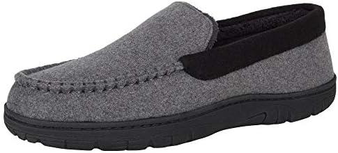 Hanes Men's Slippers House Shoes Moccasin Comfort Memory Foam Indoor Outdoor Fresh Iq