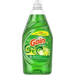 Gain Ultra Dishwashing Liquid Dish Soap, Original Scent – 21.6 Fluid Ounce (Pack of 4)