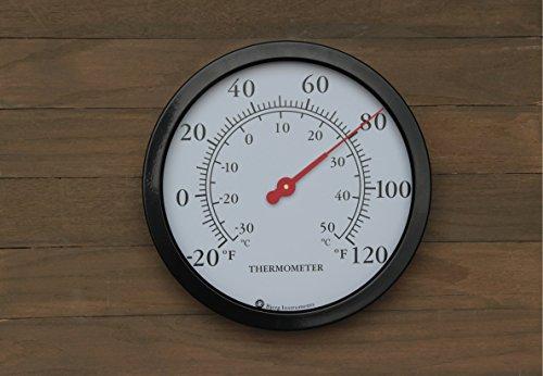 12-Steel-Enclosure-Decorative-Indoor-Outdoor-Patio-Wall-Thermometer
