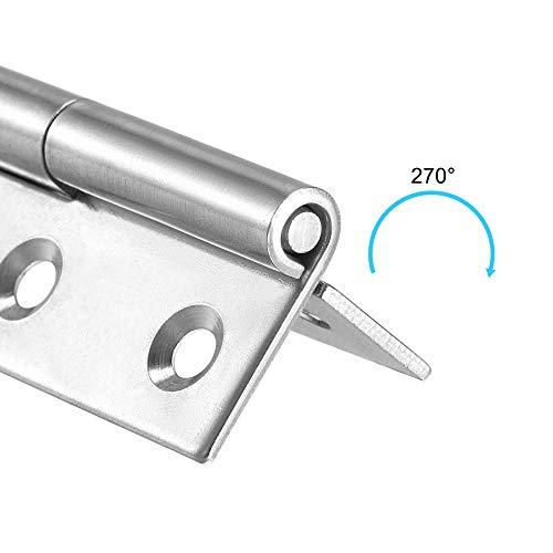 uxcell-Lift-Off-Hinge-Left-Handedness-Mini-Stainless-Steel-Hinge-Detachable-Slip-Joint-Small-Flag-Hinges-75mm-Long-50mm-Open-Width-2pcs